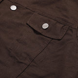 Exventura Canvas Solid Dark Brown