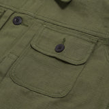 Rex Jacket Reseda Green Canvas Solid