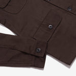 Adams Jacket 2.0 Dark Brown Canvas Solid