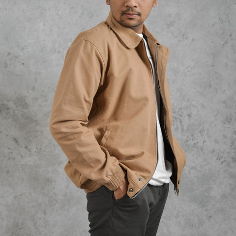 Rion Jacket Cream Canvas Solid