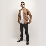 Adams Jacket Wood Brown EP Canvas Solid