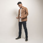 Chester Jacket 2.0 Wood Brown Canvas Solid