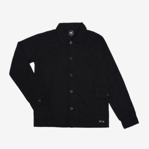 Adams Jacket Veto Black Canvas Solid