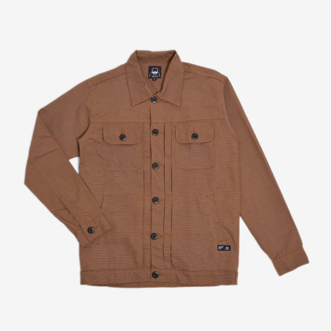 Rex Jacket Wood Brown Canvas Solid