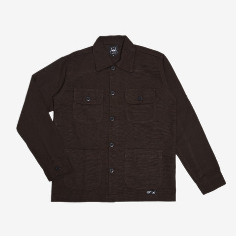 Adams Jacket Dark Brown Canvas Solid