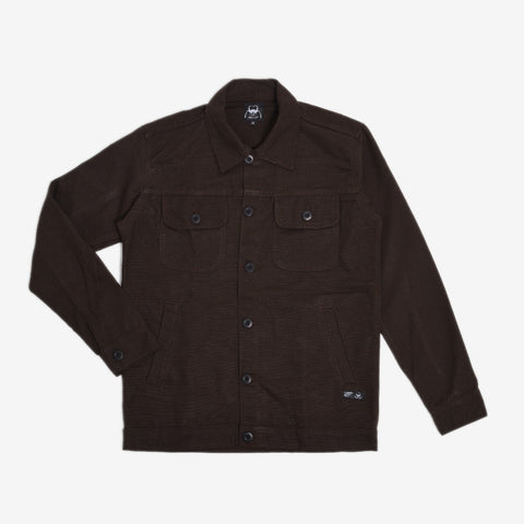 Chester Jacket 2.0 Dark Brown Canvas Solid