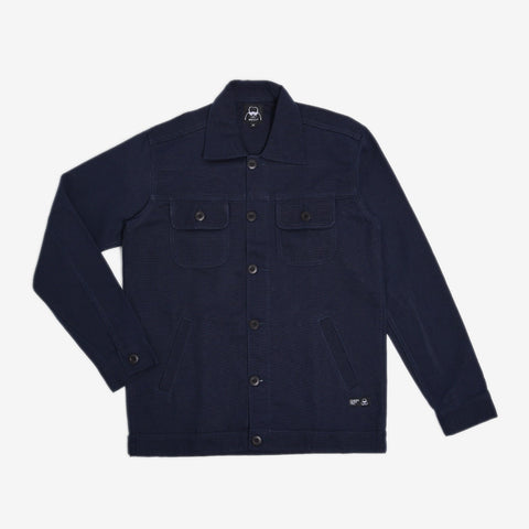 Chester Jacket 2.0 Navy Canvas Solid