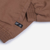 Rion Jacket Wood Brown Canvas Solid