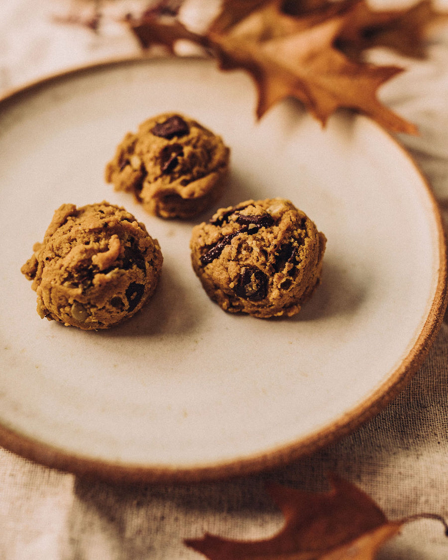 PUMPKIN, CHAI + CHOCOLATE CHUNK CASHEW COOKIE