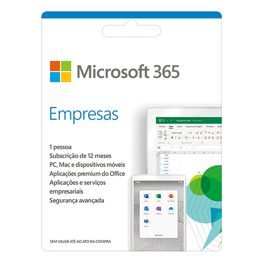 Software MICROSOFT 365 Empresas (1 Utilizador - 1 Ano - PC e Mac)