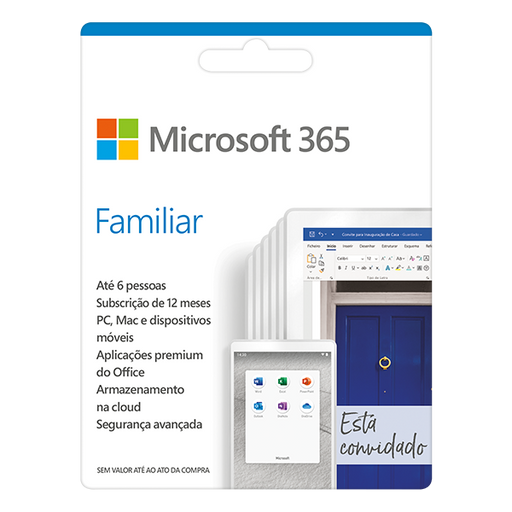Software MICROSOFT 365 Familiar (6 Utilizadores - 1 Ano - PC e Mac)