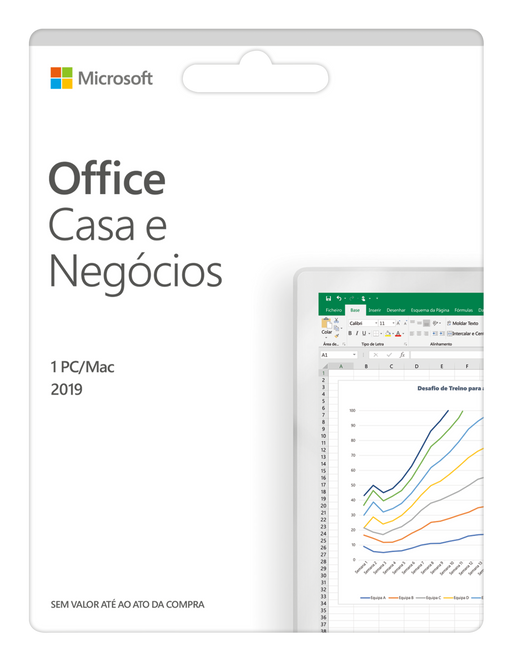 Software MICROSOFT Office Casa e Negócios (1 Dispositivo - Vitalício - PC e Mac)