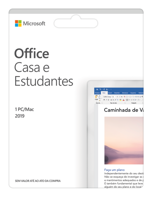 Software MICROSOFT Office Casa e Estudantes (1 Dispositivo - Vitalício - PC e Mac)