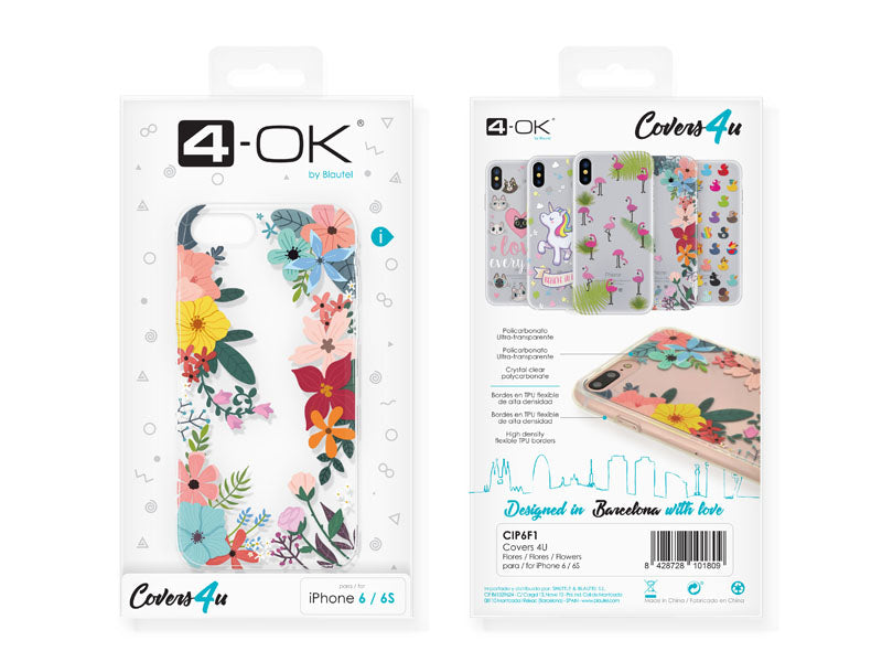Capa 4u Flowers 4-OK para iPhone 6/6S