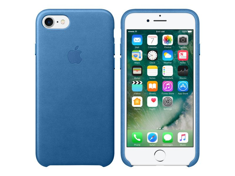 Apple Leather Case iPhone 7/8 Dark Sea Blue