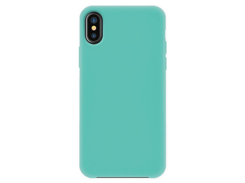 4-OK Velvet Touch iPhone X/XS Turquoise Blue Back