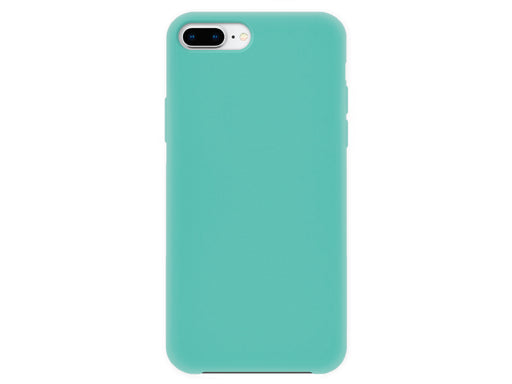 4-OK Velvet Touch iPhone 6P/6SP/7P/8P Turquoise Blue Back