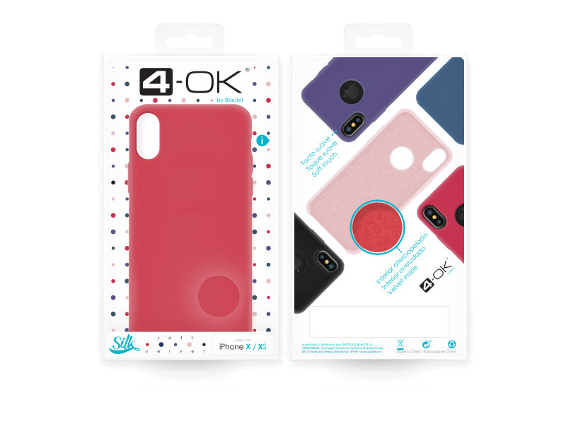 4-OK Velvet Touch iPhone X/XS Hibiscus Box