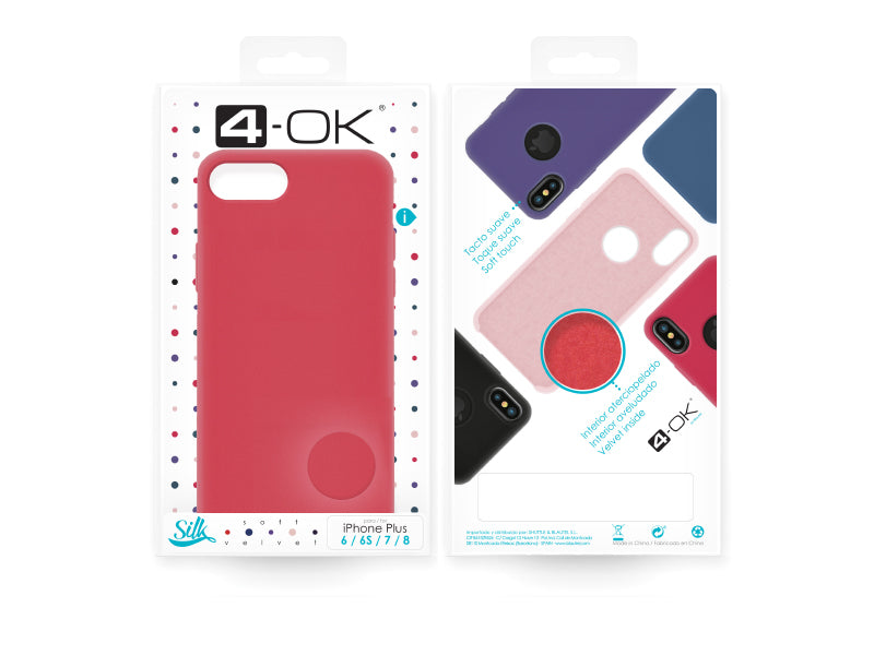 4-OK Velvet Touch iPhone 6P/6SP/7P/8P Hibiscus Box