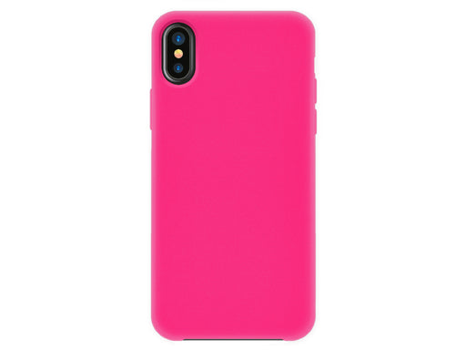 4-OK Velvet Touch iPhone X/XS Flamingo Pink Back