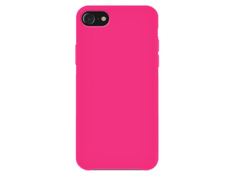 4-OK Velvet Touch iPhone 6/6S/7/8 Flamingo Pink Back