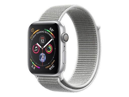 Apple Watch Series 4 GPS 44mm - Caixa em Alumínio Silver com Bracelete Loop Branca