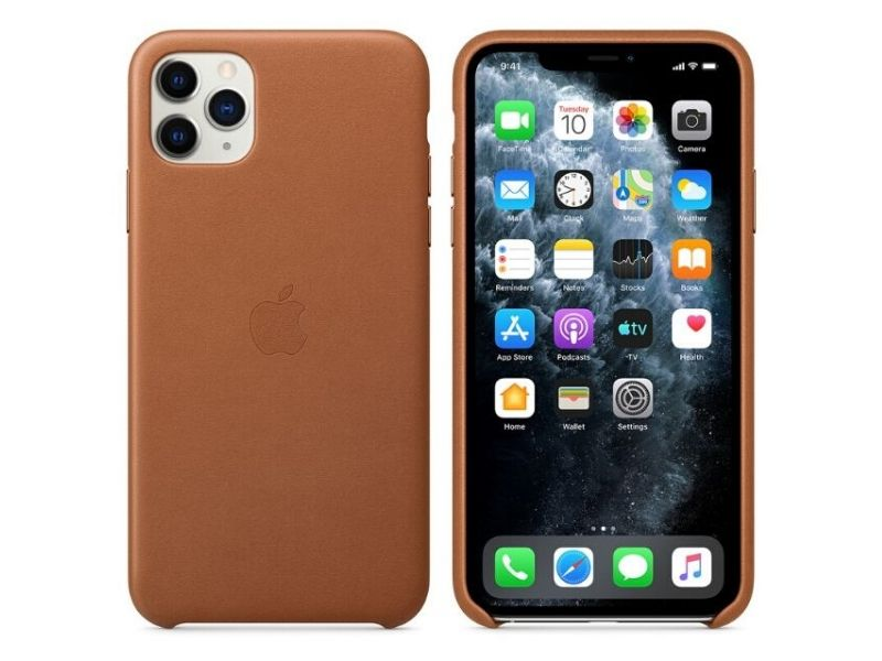Capa iPhone 11 Pro Apple Leather Case - Castanha