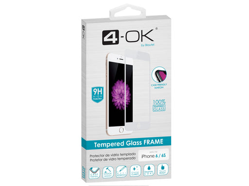 Película de Vidro Temperado Full Glass para iPhone 6/6S Branca