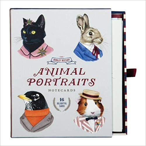 Berkley Bestiary Animal Portrait Greeting Card Assortment