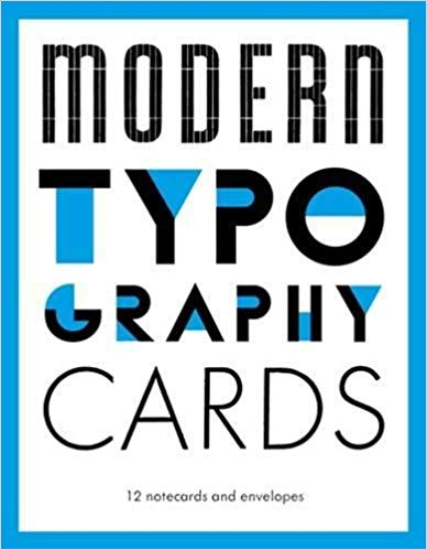Modern Typography Notecards: 12 Notecards and Envelopes Cards