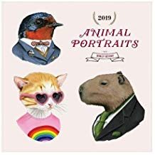 Animal Portraits Berkley Bestiary 2019 Wall Calendar