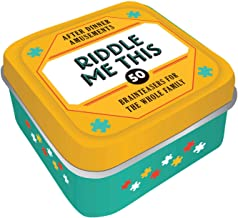 After Dinner Amusements: Riddle Me This: 50 Brainteasers for the Whole Family (Family Friendly Trivia Card Game, Portabl