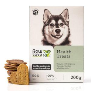 Raw Love Organic Health Treat Biscuits. Treats for Pets