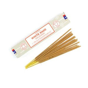 hand-rolled indian satya white sage incense