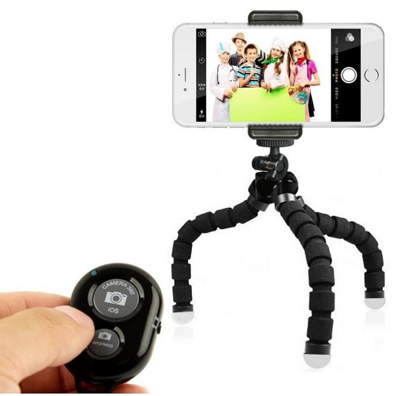 Flexible Tripod for Phone & Cameras With Remote Control