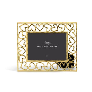 Heart Frame 5 x 7 - Gold