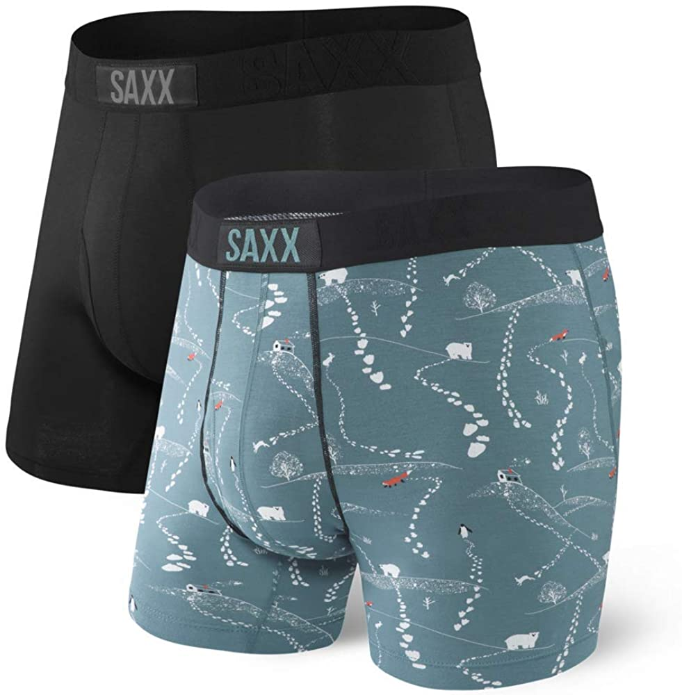 Ultra Boxer Brief Fly - 2pack - Black/Fresh Tracks