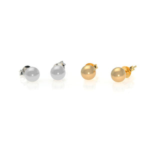 Button Stud Earring - Gold