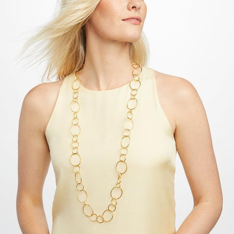 Colette Textured Necklace - Gold