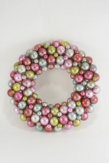 Pastel Ball Encrusted Wreath