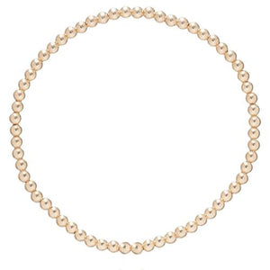 3MM Classic Beaded Bracelet - Gold