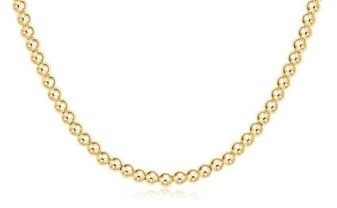 "17"" Choker Classic Gold 4mm Bead"