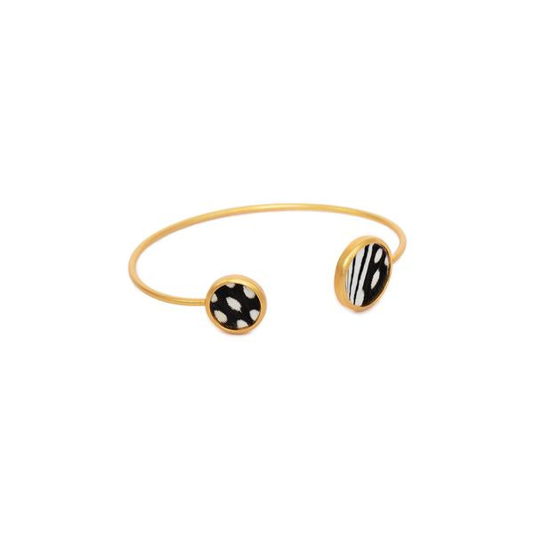 Bezel Cuff Bracelet - Assorted colors/varities
