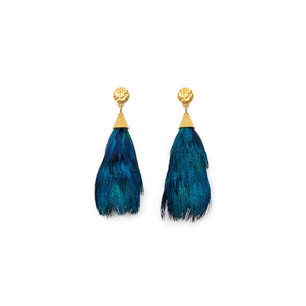 Feather Statement Earrings - Assorted Colors