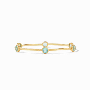Milano Bangle Gold Bahamian Blue - Medium