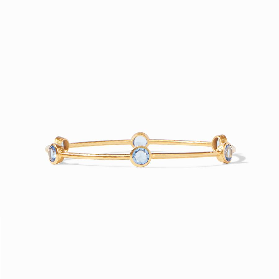 Milano Bangle Gold Chalcedony Blue - Small