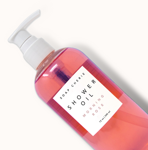 Shower Oil - Morning Rose - 12 oz.