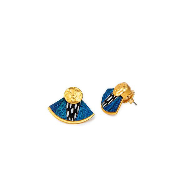 Feather Stud Earrings - assorted colors