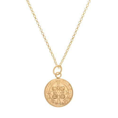 "Large Blessing Charm 16"" Necklace - Gold"