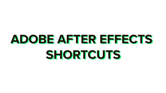 Adobe After Effects shortcuts 2020 complete list for Windows and Mac + PDF